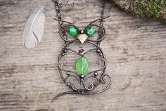 wHoo wHoo Owl Pendant by twistedjewelry.deviantart.com on @DeviantArt