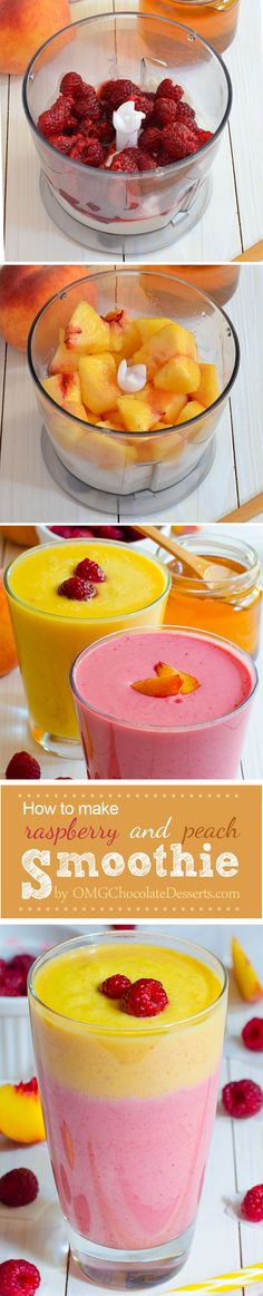 Raspberry and Peach Smoothie