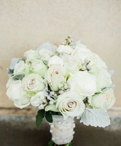 Bridal Bouquet, anemones, roses and hydrangea. Designed by Janelda Moore of Le Chateau Venue Lubbock Tx
