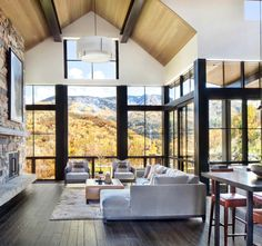 Contemporary Mountain Home. Breathtaking contemporary mountain home in Steamboat Springs. (Image Courtesy of Vertical Arts Architecture) Contemporary Interior Design, Modern House Design, Home Interior Design, Interior Architecture, Contemporary Houses, Interior Modern, Contemporary Home Plans, Interior Livingroom, Futuristic Architecture