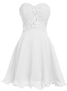 78c529d400b A-Line Strapless Rhinestone Ruched Lace Short Cocktail Dress