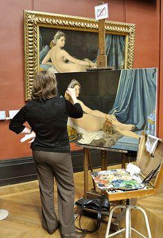 "Copyist with ""La Grande Odalisque"", Louvre | by Uncle Lynx"
