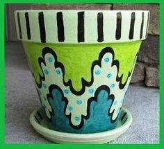 Fishing and Wishing: Blog Giveaways!: Giveaway: Flower Pot and Birdhouse from Erin Brown Designs