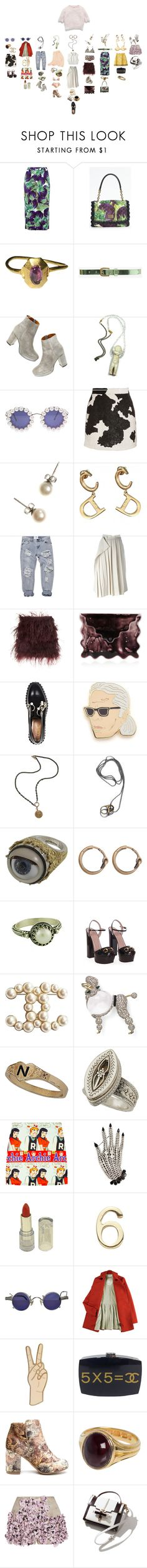 """""""Untitled #2160"""" by duumbblond ❤ liked on Polyvore featuring Dolce&Gabbana, Forever 21, Madewell, Eclectic Shock, Chanel, Ashish, J.Crew, Christian Dior, Yohji Yamamoto and Christopher Kane"""