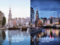 Not much has changed since 1900 when looking at the Munttoren, Muntplein, Amsterdam, Holland. #greetingsfromnl