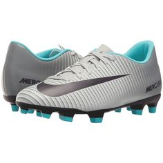 Nike Mercurial Vortex III FG (Wolf Grey/Purple Dynasty/Cool Grey)... ($45) ❤ liked on Polyvore featuring shoes, grey, grey shoes, low profile shoes, laced shoes, nike footwear and gray shoes