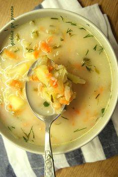 Qchnia po prostu: Zupa ogórkowa z ziemniakami i ryżem Corn Beef And Cabbage Soup, Corned Beef, Food And Drink, Ambition, Ethnic Recipes, Diet, Kitchens, Polish Food Recipes, Chef Recipes