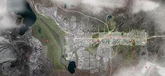 Relocation of the City Center of Kiruna Winning Proposal,site plan