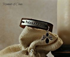Child's leather bracelet by MomentsofChaos on Etsy