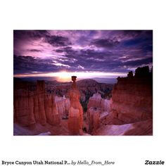 Thor's Hammer in Bryce Canyon Utah National Park - Postcard #ThorsHammer #BryceCanyon #Postcard #Utah