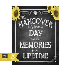 Printable Sunflower Chalkboard Style Hangover #weddings #decoration @EtsyMktgTool http://etsy.me/2g1wU4V