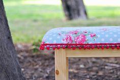 Stool Handmade stool made of pine tree  Padded by #StudioBornstein