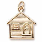 House Charm in Yellow Gold Plated