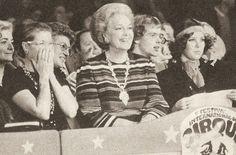 Awww - Grace laughing is the best! ♥ Princess Grace, Begum Yvette Blanche Labrousse, Prince Albert, Princess Caroline and Prince Rainier at the Festival International du Cirque de Monte Carlo, January 1975.