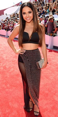 This is my fave so far.   Video Music Awards 2014 Red Carpet Arrivals - Becky G from #InStyle