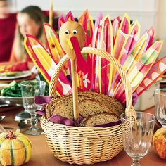 Turkey Breadbasket - Craft & Centerpiece | Spoonful