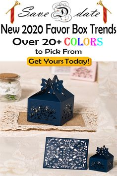Come checkout the newest trends in invitation supplies Unique Wedding Stationery, Wedding Invitation Trends, Laser Cut Wedding Invitations, Invitation Suite, Invitation Design, Cute Baby Shower Ideas, Wedding Favor Boxes, Store Design, Decorative Boxes