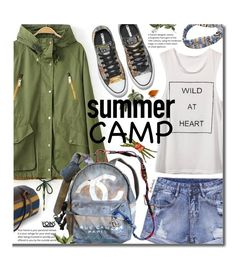 Yoins 60-Second Style: Summer Camp by beebeely-look on Polyvore featuring Chanel, Pendleton, rippedshorts, summercamp, yoins and yoinscollection