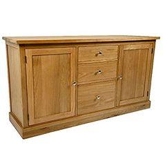 Solid Oak Sideboard | Large Light Oak Living Room Furniture | HFL.CO.UKS1139