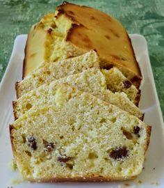 SANS GLUTEN SANS LACTOSE: Cake au citron et aux raisins secs sans gluten et sans lactose
