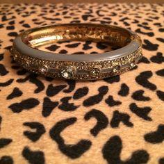 Jeweled bangle Taupe grey bracelet Jewelry Bracelets
