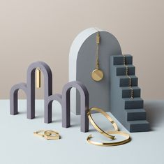 Jewellery Still Life Campaign for Beller. Inspired by architectural forms in violet-blue colour palette. Necklaces, rings, bracelets for men Jewelry Stand, Jewelry Shop, Jewelry Stores, Jewelry Design, Jewelry Photography, Still Life Photography, Product Photography, Photography Ideas, Displays