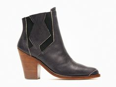 The Serra is a cowboy-inspired leather ankle boot featuring a western motif. View here: http://d.pr/KUrN #surfacetoair