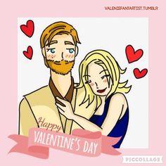 Happy Valentine's Day!   Obi-Wan & Satine ❤️ by valeniefantartist on Tumblr http://valeniefantartist.tumblr.com/