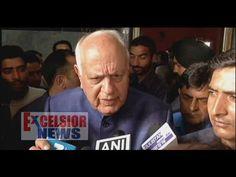 Former Chief Minister, Farooq Abdullah talking to newsmen in  Srinagar