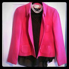 Chadwicks wool blazer Pop of pink in your wardrobe! Goes with jeans or black slack/skirt! Chadwicks Jackets & Coats Blazers