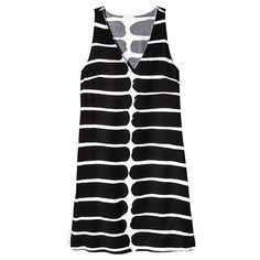 Women's Sleeveless Dress - Okariino Print - Black