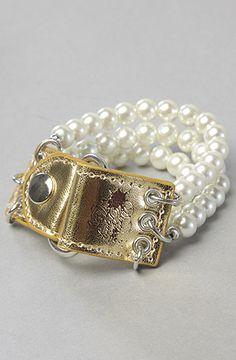 Dirty Pretty Things Trinity Bracelet Gold Pearl