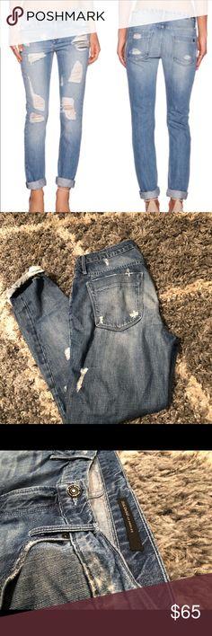 Black orchid boyfriend jeans Super cute, distressed boyfriend jeans! Black Orchid Pants Skinny
