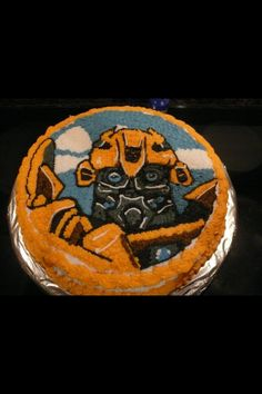 Bubble Bee from Transformers Birthday Cake