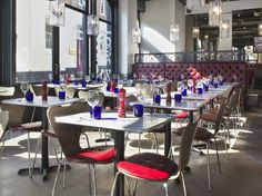 Pizza Express Colchester.Star Inspired screens and lighting