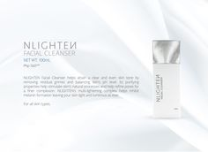 NLIGHTEN Facial Cleanser helps attain a clear and even skin tone by removing residual grimes and balancing skin's pH level. Nlighten Products, Even Skin Tone, Facial Cleanser, Whitening, Skin Care, Face Cleaning, Skincare Routine, Skins Uk, Skincare