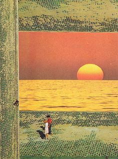 """A Walk on King Sun"" (reinterpretation of Jesse Treece Collage) by alexcollages"