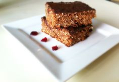 Created in 2012, perfected in 2013. Chocolate protein flapjacks