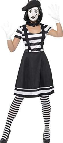 Smiffys Womens Lady Mime Artist Costume Dress Collar Beret Gloves Tights and MakeUp Funny Side Serious Fun Size 1012 24627 -- See this fantastic product. (This is an affiliate link ). Mime Costume, Cool Halloween Costumes, Costume Dress, Retro Halloween, Adult Halloween, Halloween Party, Adult Costumes, Costumes For Women, Mime Artist