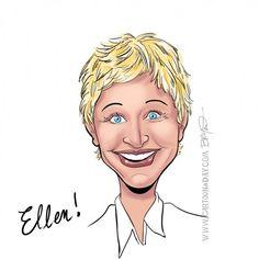 Ellen Degeneres Caricature
