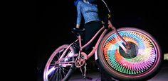 The Monkey Light Bike Wheel LEDs! Awesome....