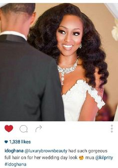 Natural hair wedding inspiration