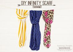 How to make an infinity scarf.