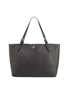 York+Saffiano+Leather+Tote+Bag,+Black+by+Tory+Burch+at+Neiman+Marcus.
