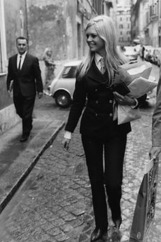 double breasted suit Brigitte Bardot 60 Iconic Women Who Prove Style Peaked In The '60s