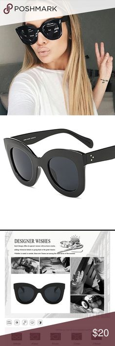 JUST IN  New Black Cat Eye Sunglasses ▪️Brand New   ▪️UV400  ▪️Anti-Reflective  ▪️Price is firm unless bundled ▪️Hot, Trendy Sunglasses   Happy Poshing! Accessories Sunglasses