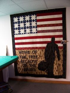 Home of the Free    On Quilting Board