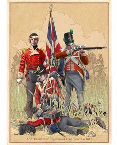 "1815 June.   27th ""Inniskilling"" Regiment of Foot, British, at Waterloo."
