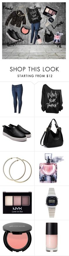 """I AM"" by fincsoka on Polyvore featuring Simply Vera, Hollister Co., Lancôme, NYX and Casio"