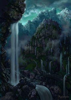 Гондолин Gondolin at dawn by Mysilvergreen on DeviantArt